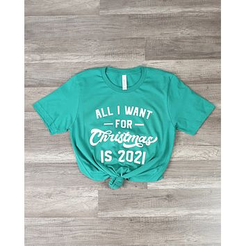 Distracted - All I Want For Christmas is 2021 in Green