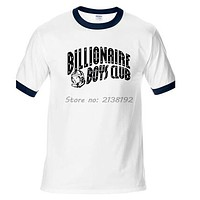 fashion clothing Billionaire Boys Club letters print men t shirt new summer 100% cotton raglan tees basic top tees