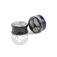 Triple Skull Acrylic Plugs