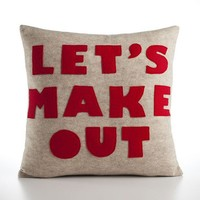 Let's Make Out Pillow by Alexandra Ferguson