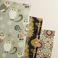 Owl Winter Soiree Wrapping Paper Rolls, 3-Pack - World Market
