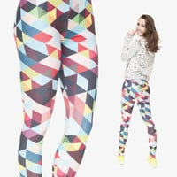 Mix City New 3D Print Triangle Leggings for Women Summer Style Sexy Fitness Black Milk Punk Rock Adventure Time Casual Leggings