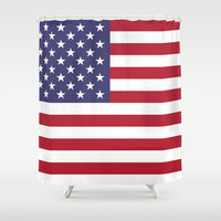 "The national flag of the USA - Authentic Scale ""G-spec"" 10:19 and authentic colors. Shower Curtain by LonestarDesigns2020 - Flags Designs +"