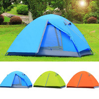 Ultralight Camping Tent Waterproof 1-2 Person Outdoor Aluminum Pole Double Layer Fishing Beach Hiking Roof Camping Tent