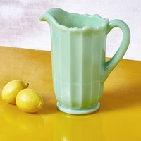 Jadeite Milk Glass Pitcher