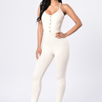 Natural State Jumpsuit - Nude