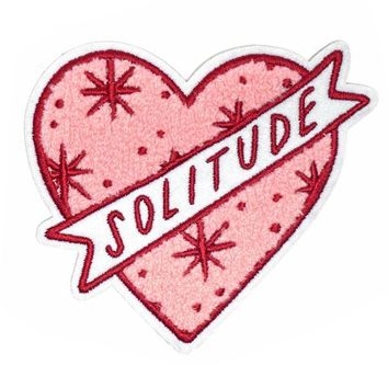 Solitude Heart Large Chenille Patch