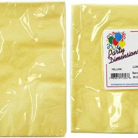 yellow lunch napkins 20-packs Case of 36