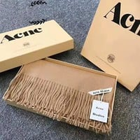 """Acne Studios"" Classic Fashion Women Men Soft Cashmere Cape Tassel Scarf Scarves Shawl Accessories"