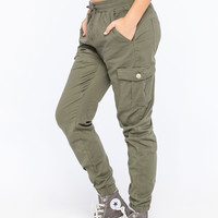 ALMOST FAMOUS Crave Fame Womens Twill Jogger Pants | Girl In Motion