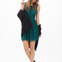 FOREVER 21 Cutout-Back Lace Dress Jade