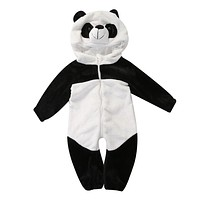 Pop Infant Toddler Baby Kid Boy Girl Warm Winter Panda Animal Overall Thicken Romper Jumpsuit Clothes Set
