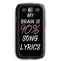 Cool Brain Song Music Cute Funny Quote Samsung Galaxy S3 Case