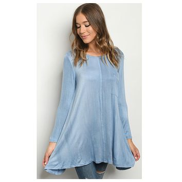 Simply Adorable! Beautiful Blue Tunic Top