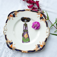 Upcycled Vintage Cake Plate