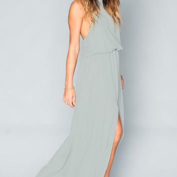 Show Me Your mumu Heather Halter Dress ~ Silver Sage