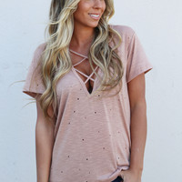 Your Typical Criss Cross Top {Nude}
