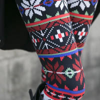 Digital Snowflake Leggings