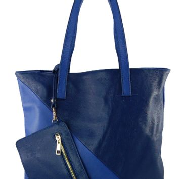 Cobalt with Navy Plié Tote