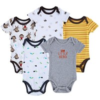 Baby Bodysuits Short Sleeve Babies born Cotton Body Baby Next Infant Boy & Girl Clothing set