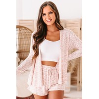Relaxed To The Max Knit Open Front Cardigan (Mauve)