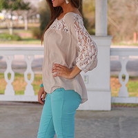 Easy Like Sunday Top, Stone