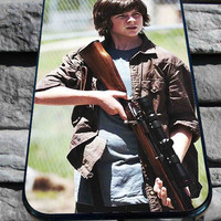 Carl Grimes The Walking Dead for iPhone 4/4s, iPhone 5/5S/5C/6, Samsung S3/S4/S5 Unique Case *76*