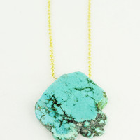 Cassie Necklace, Turquoise