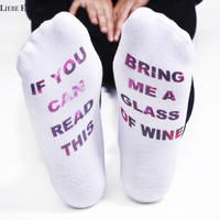 IF YOU CAN READ THIS Socks Women Funny White Low Cut Ankle Sock