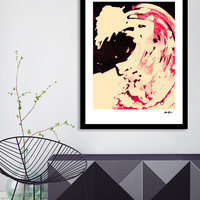 «Peaches and Cream Wave», Numbered Edition Fine Art Print by Alicia Jones - From $20 - Curioos