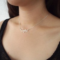 Custom Name necklace personalized necklace 925 Sterling silver jewelry customized necklace