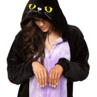 Black Kitty Cat Unisex Onesuit