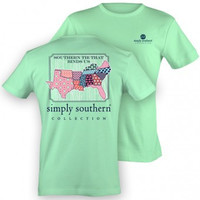 """Simply Southern """"Southern Border"""" Tee - Mint"""
