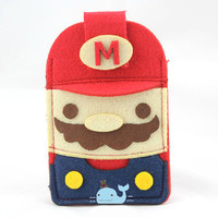 Suitable for iPhone, Mario creative mobile phone protective cover, handmade.