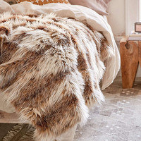 Faux Russian Lynx Throw Blanket - Urban Outfitters