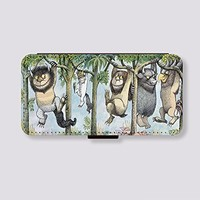 Leather Card Slot for iPhone 6 plus Case Where the Wild Things Are Phone Case