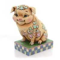 Jim Shore WHAT'S THE PIG IDEA? Polyresin Lazy & Lovable 4057701