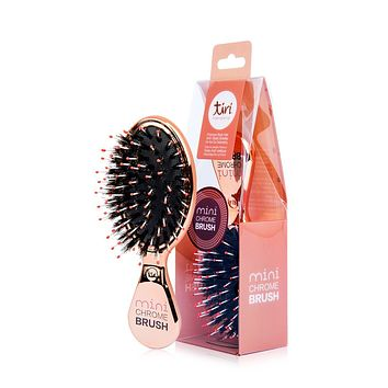 "TiriPro Mini Boar Bristle ""Purse Perfect"" Paddle Brush"