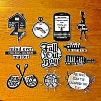 Set of 11 Fall Out Boy Stickers *made to order*