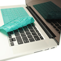 "TopCase Solid Hot Blue Silicone Keyboard Cover Skin for Macbook Pro 13"" 15"" 17"" with or without Retina Display"
