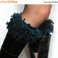 Black Boot Cuff Boot Toppers Leg Warmers Light Gray Boot Socks Knit Legwarmers Cable Knitted