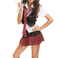 Amour- Sexy Naughty School Girl Costume Set (G5209)