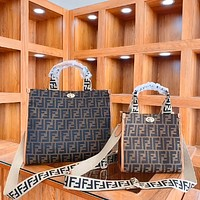 Fendi new women's classic double F letter shopping bag handbag