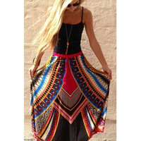 New Women Lady Summer Floral Boho Beach Fashion Chic Sweet Sexy Casual Vogue Slim Fit Long Maxi Skirt