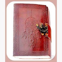 """Dream Catcher "" Leather Latched  Journal"