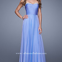 Long Strapless Formal Gown by La Femme