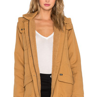 Obey Fairfield Jacket in Bone Brown