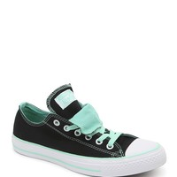 Converse All Star Double Tongue Sneakers - Womens Shoes - Black - 9