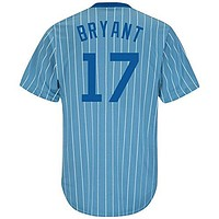 Kris Bryant Chicago Cubs Columbia Blue Cool Base Cooperstown Men's Jersey