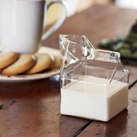 Half Pint Glass Creamer Carton Mug Gift